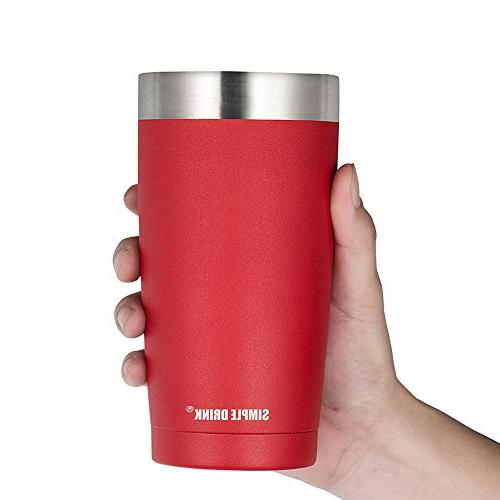 SIMPLE Tumbler with - Steel Travel for Both Hot and Cold Powder