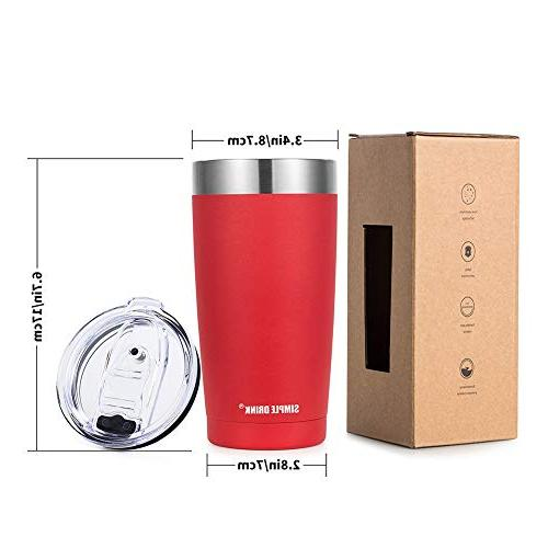 SIMPLE DRINK Tumbler with - Steel Travel Mug Hot and Cold Powder Coated