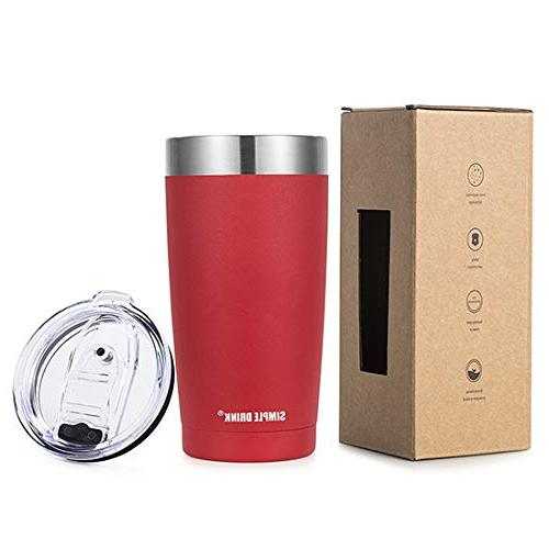 SIMPLE 20oz Insulated Tumbler Splash-Proof Travel Hot and Powder