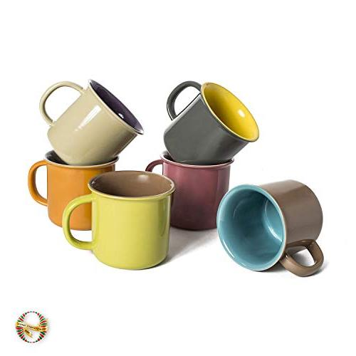 Yedi Houseware Set 6 Jumbo Porcelain Tea, Cocoa, Hot
