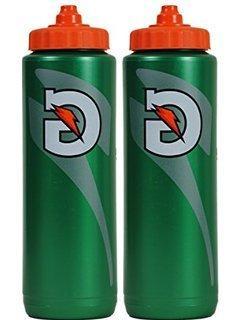 Set of 2 Gatorade Leakproof Green Orange Sport Squeeze Water
