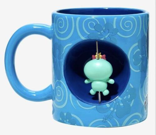 Disney Stitch Scrump Ceramic 20oz. Spinner Mug