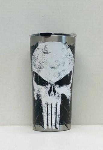 marvel punisher 20oz stainless steel tumbler