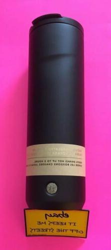 ❤️Starbucks Matte Black FlipTop Stainless Steel Vacuum I