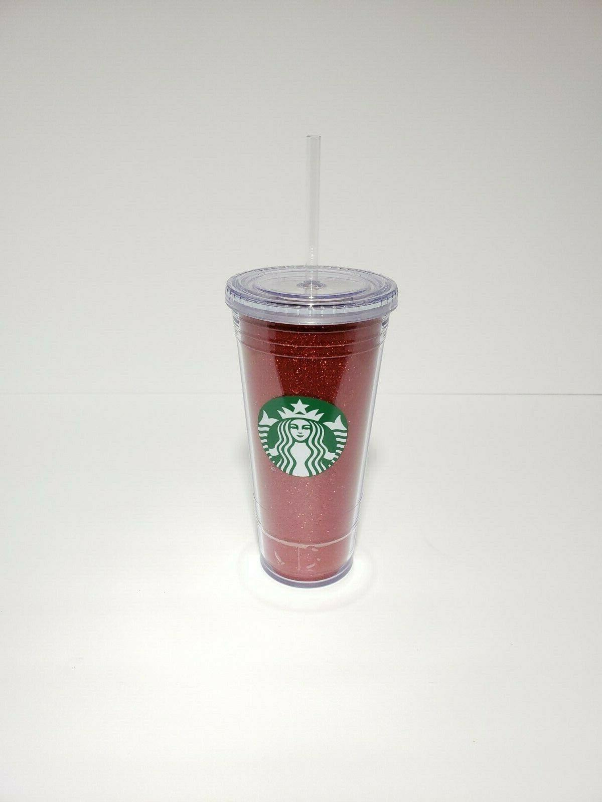 NEW Starbucks 20oz Plastic To Go Tumbler GOLD or RED
