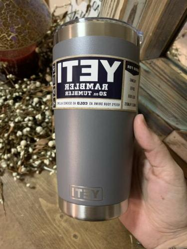 New Yeti Steel Grey Magnetic Straw