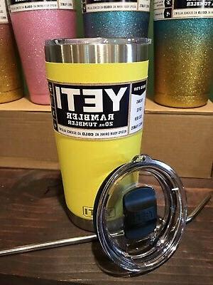 new 20oz stainless steel tumbler yellow