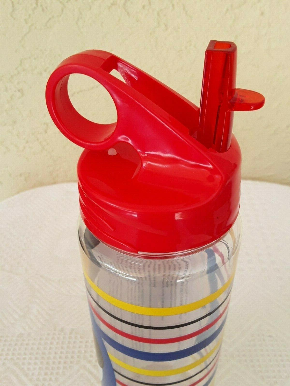 New Mickey Stripes oz. Water Bottle Icon