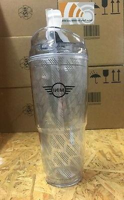 NEW OEM MINI Cooper Clear Hot Cold Drink Tumbler 20 oz 80902