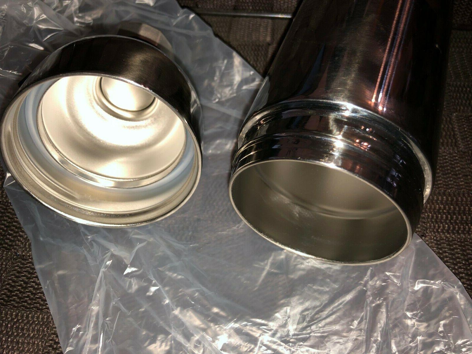 NEW Bottle Silver Double Wall Steel Oz