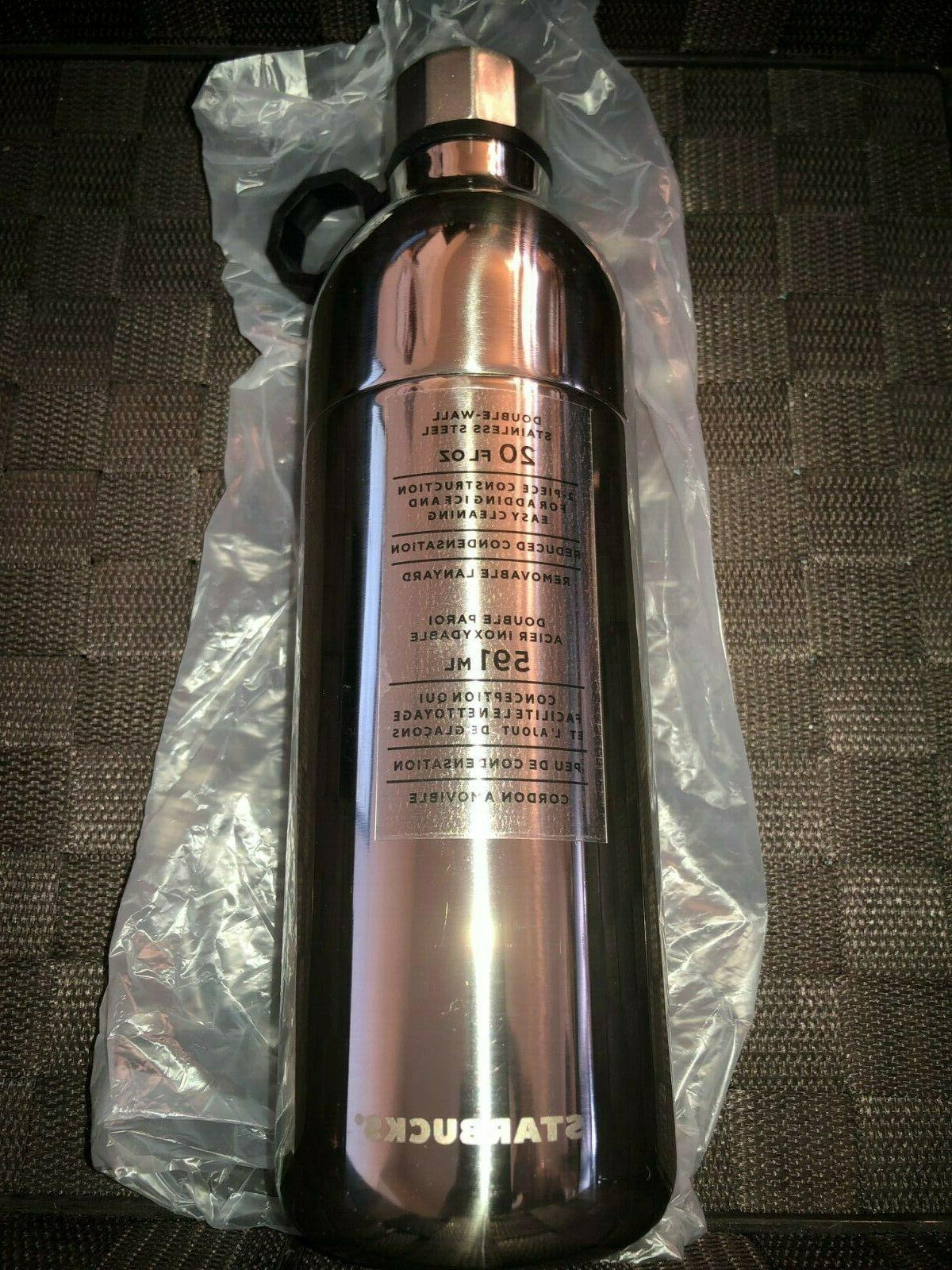 new water bottle silver double wall stainless