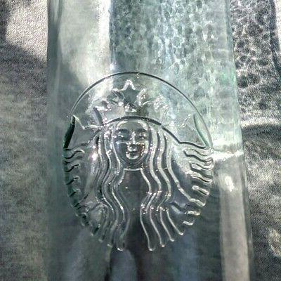 Starbucks 20oz Recycled Glass Water Shipping!