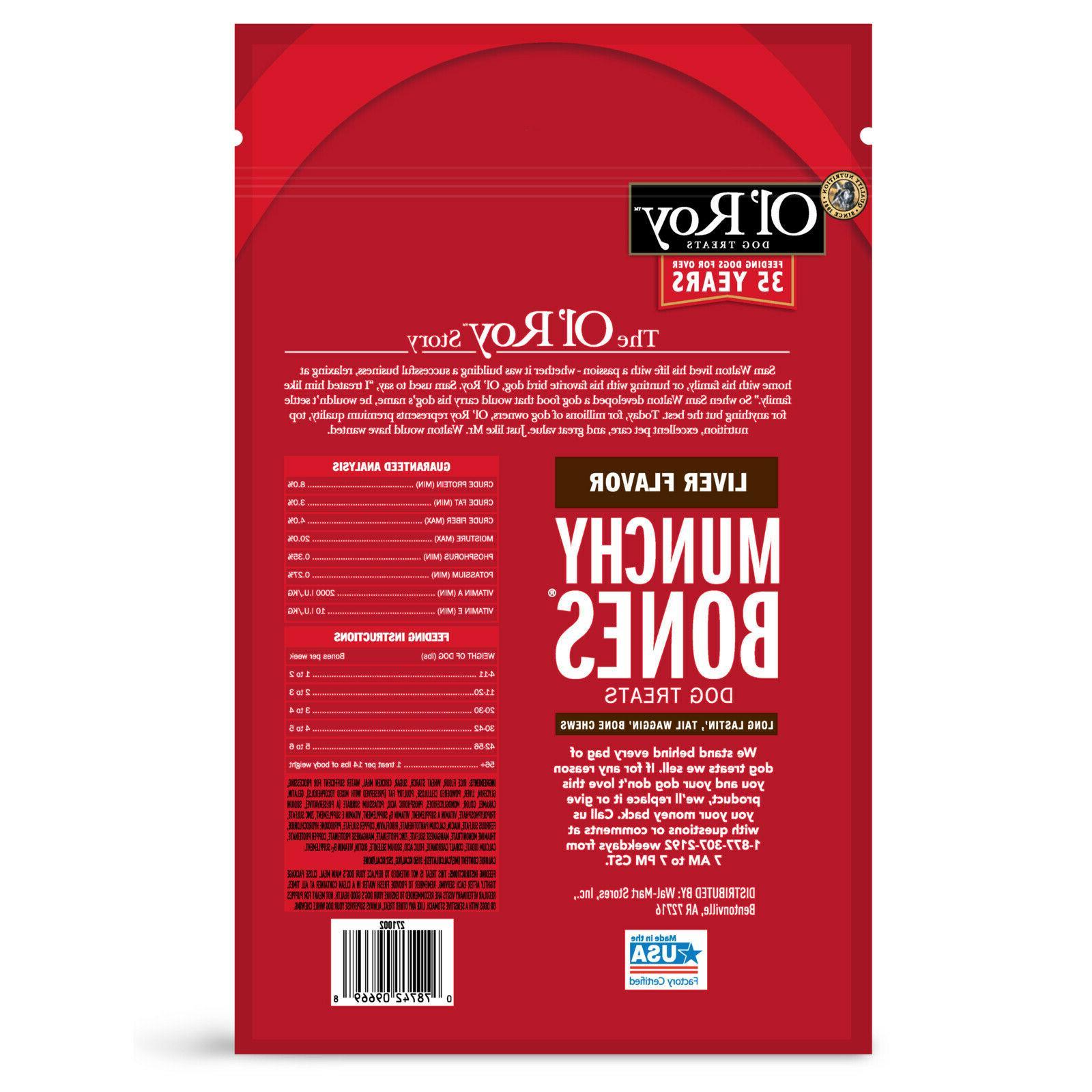 Ol' Roy ® Munchy Bones Treats Liver Flavor 20 7 PACK