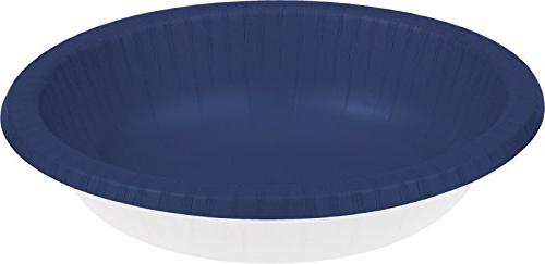 Paper Bowl 20Oz 20/Pkg-Navy