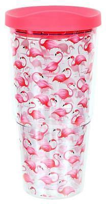 DEI Pink Flamingo Insulated Plastic Tumbler, 20 fl. oz.