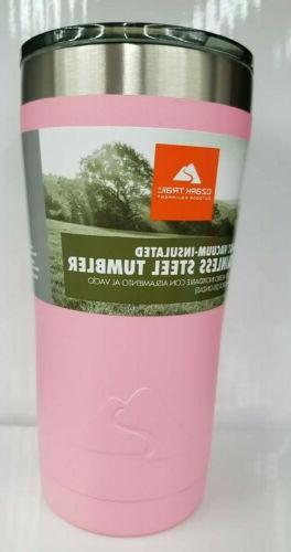 OZARK TRAIL PINK POWDER COATED 20oz STAINLESS TUMBLER COLOR