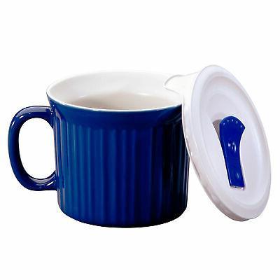CORNINGWARE Colours Pop-Ins Blueberry 20-oz Mug w/ Vented Co