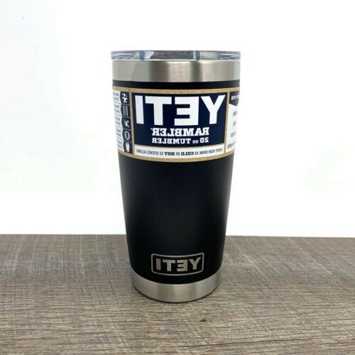 Yeti Rambler 20 Black Mag Slide - New