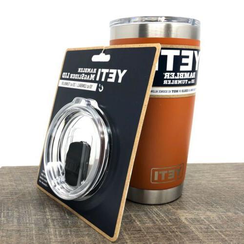 rambler 20 oz clay tumbler with extra