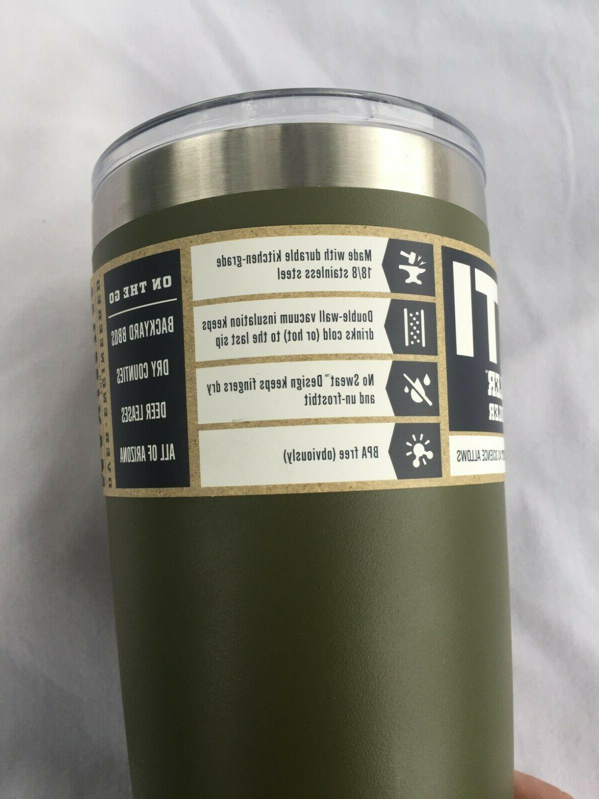 YETI Rambler, Olive Green NEW Color 20 Ounce PRIORITY