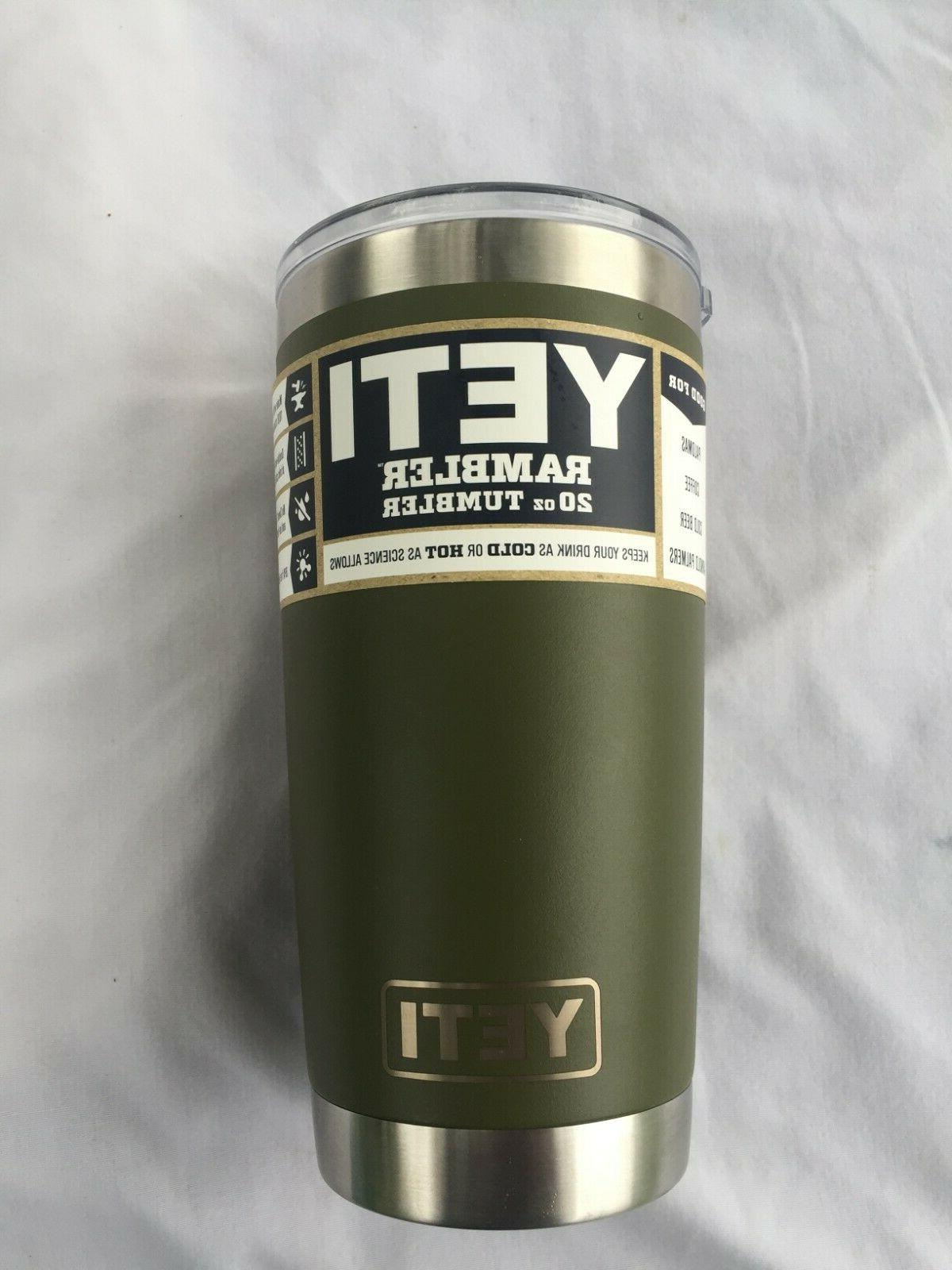 YETI Rambler, Olive Color Ounce PRIORITY