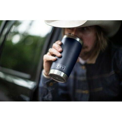 Yeti Rambler Stainless Steel Navy Steel Insulated w/LID