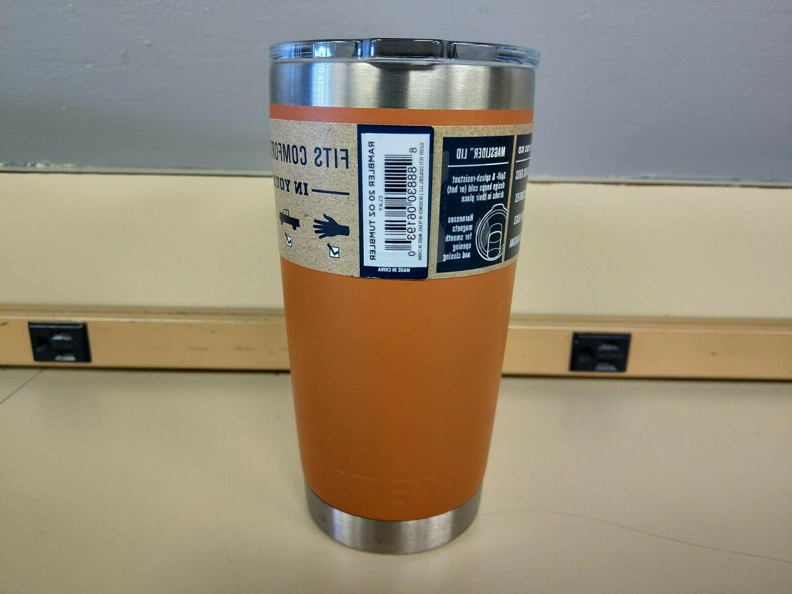YETI Insulated Tumbler Lid Clay Orange READ