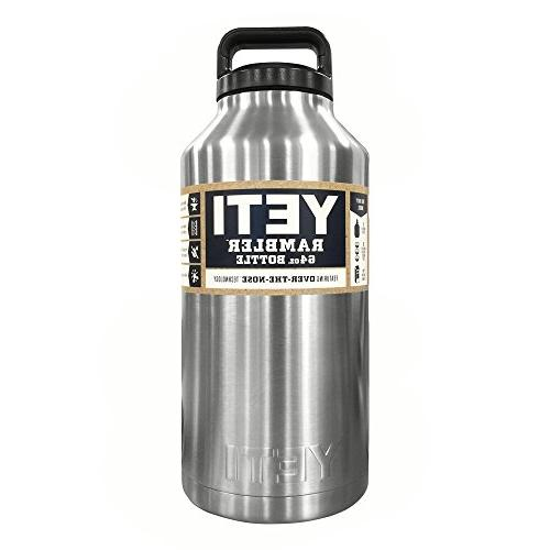 Brand New Yeti 64 oz Stainless Bottle with Lid Shipping!