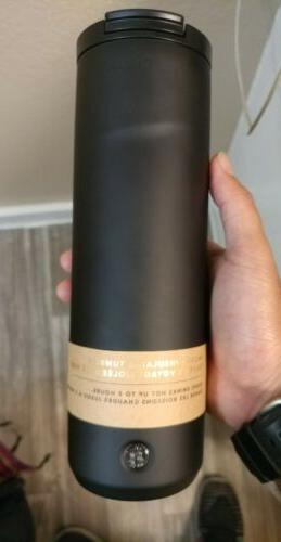 rare new matte black stainless coffee tumbler