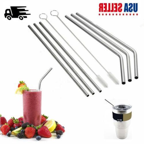 Reusable Metal Drinking Straws for 20/30 OZ YETI Tumbler & C