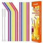 "Reusable Plastic Straws 12 Pack 10.5"" Long Color Tervis Tumb"