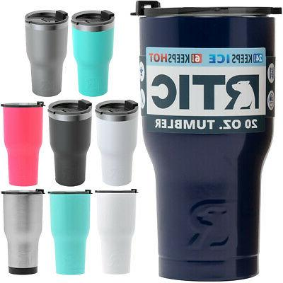 rtic 20 oz vacuum insulated stainless steel