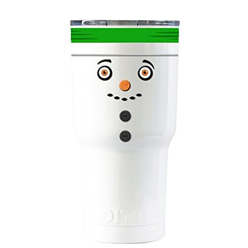 rtic buttoned snowman green hat