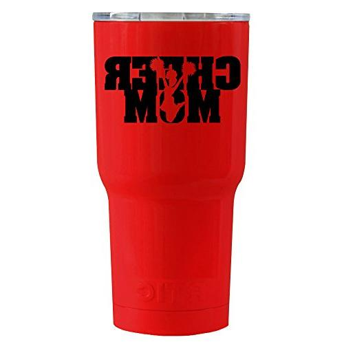 rtic cheer mom red gloss