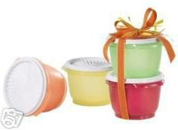 Tupperware 20 oz Servalier Bowl Set of 4 Fruit Colors