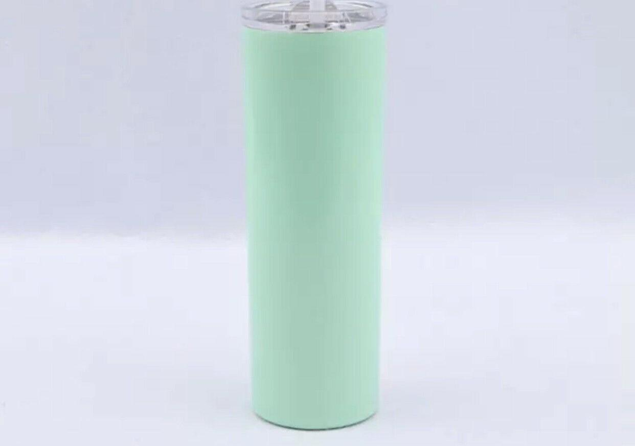 Stainless steel 20oz tumbler with and straws