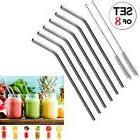Stainless Steel Bend Drinking Straws For 20oz 30oz Yeti Tumb