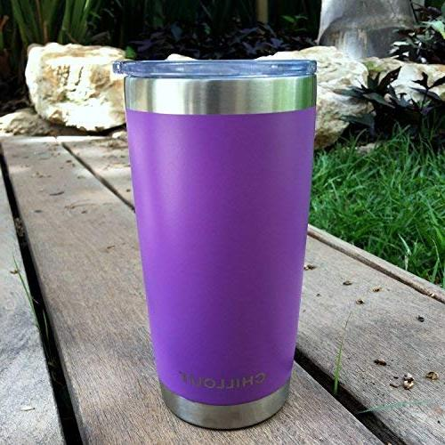 20 oz Stainless Steel Tumbler Sliding Lid - Premium Quality Vacuum Insulated Travel Coffee Mug Hot Tumbler 20