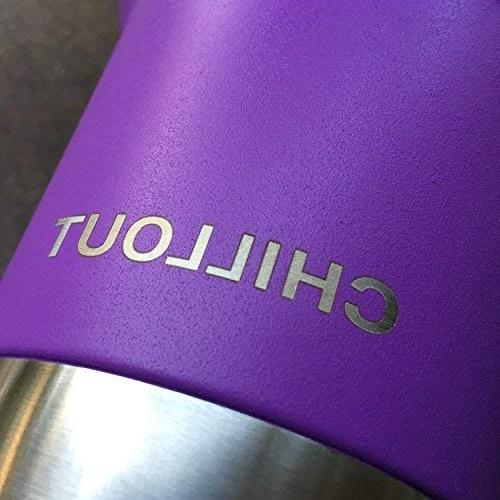 20 Sliding Quality Double Wall Vacuum Insulated Travel Coffee Mug - Insulated Cup Hot Cold - Purple Powder Tumbler oz