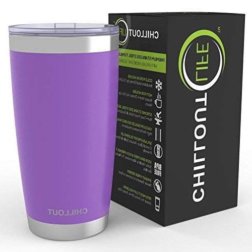 20 Tumbler Sliding Quality Double Wall Insulated - Cup for Hot & - Purple Powder Tumbler 20