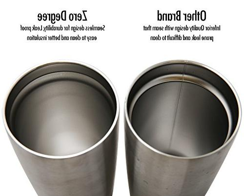 Stainless Steel Tumbler with Lid, Double Insulated Hot and Drink by Zero Degree