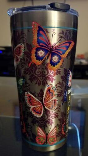Tervis Stainless Steel Tumbler, Butterfly Motif, 20 oz