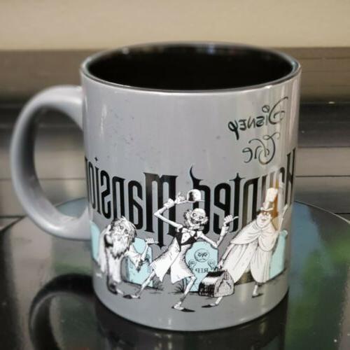 Disney Haunted Mansion Hitchhiking Ceramic 20oz Mug New