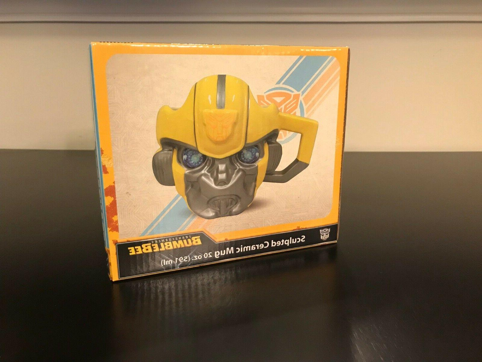 TRANSFORMERS Bumblebee 20 oz. Sculpted Ceramic Mug New Bumbl