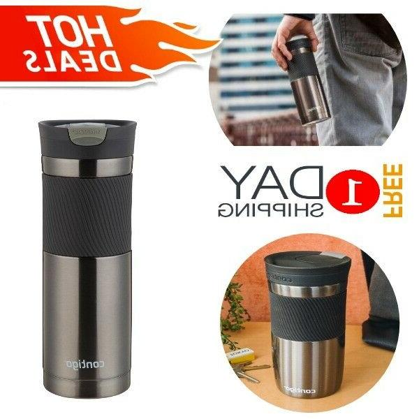 Coffee Tea Travel Mug Contigo Stainless Steel Leak Proof The