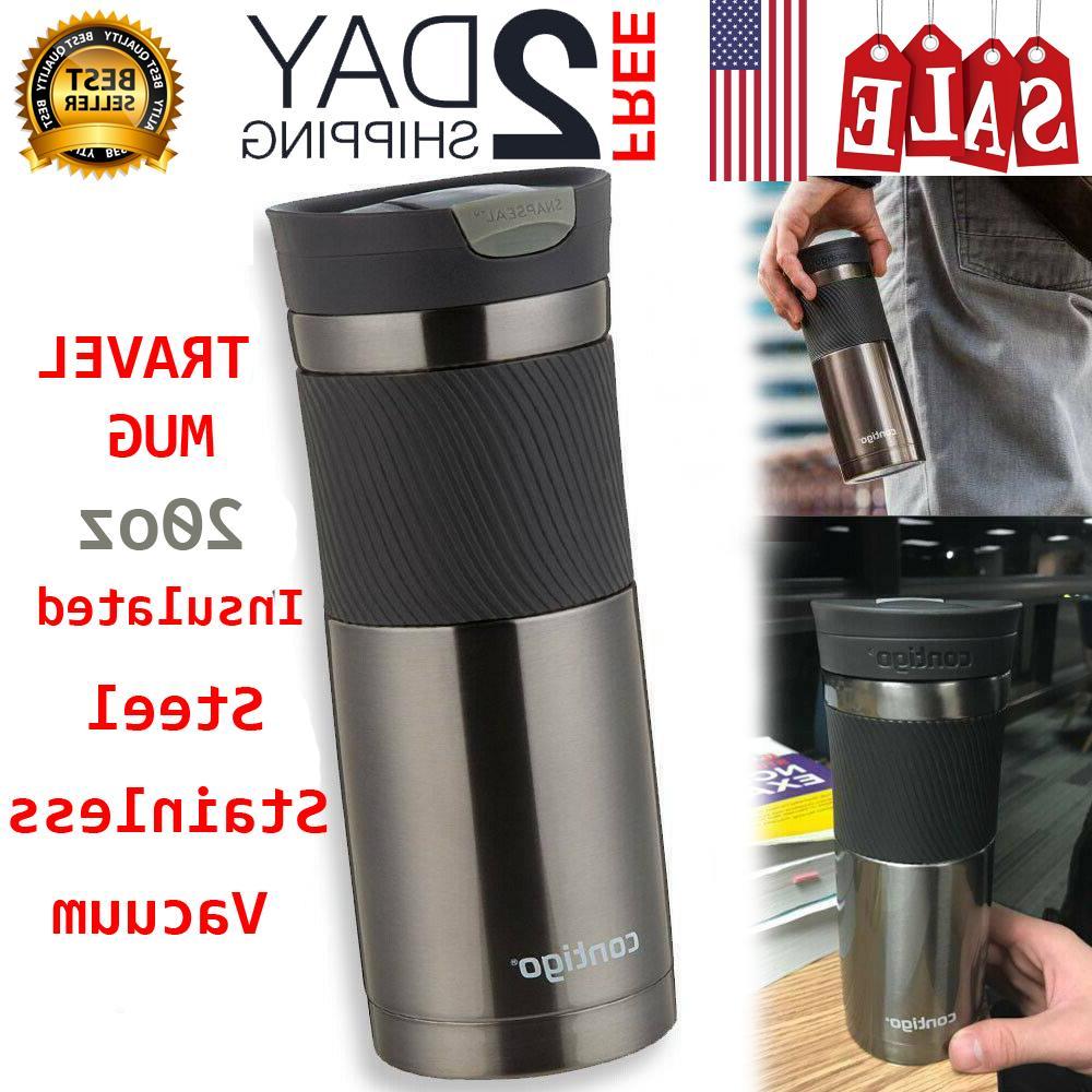 Travel Mug Contigo Snapseal Byron Stainless Insulated Steel