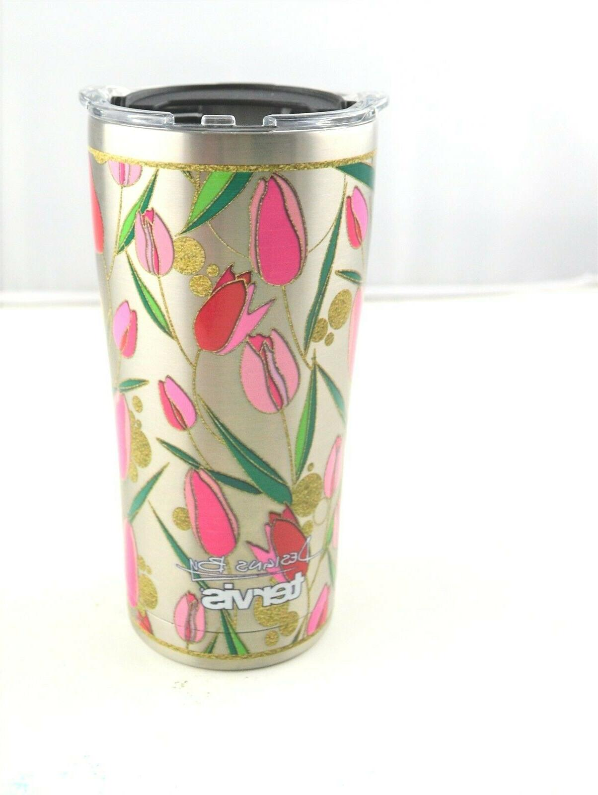 Tervis Tulip Stainless Steel Tumbler w/Clear & Black Hammer