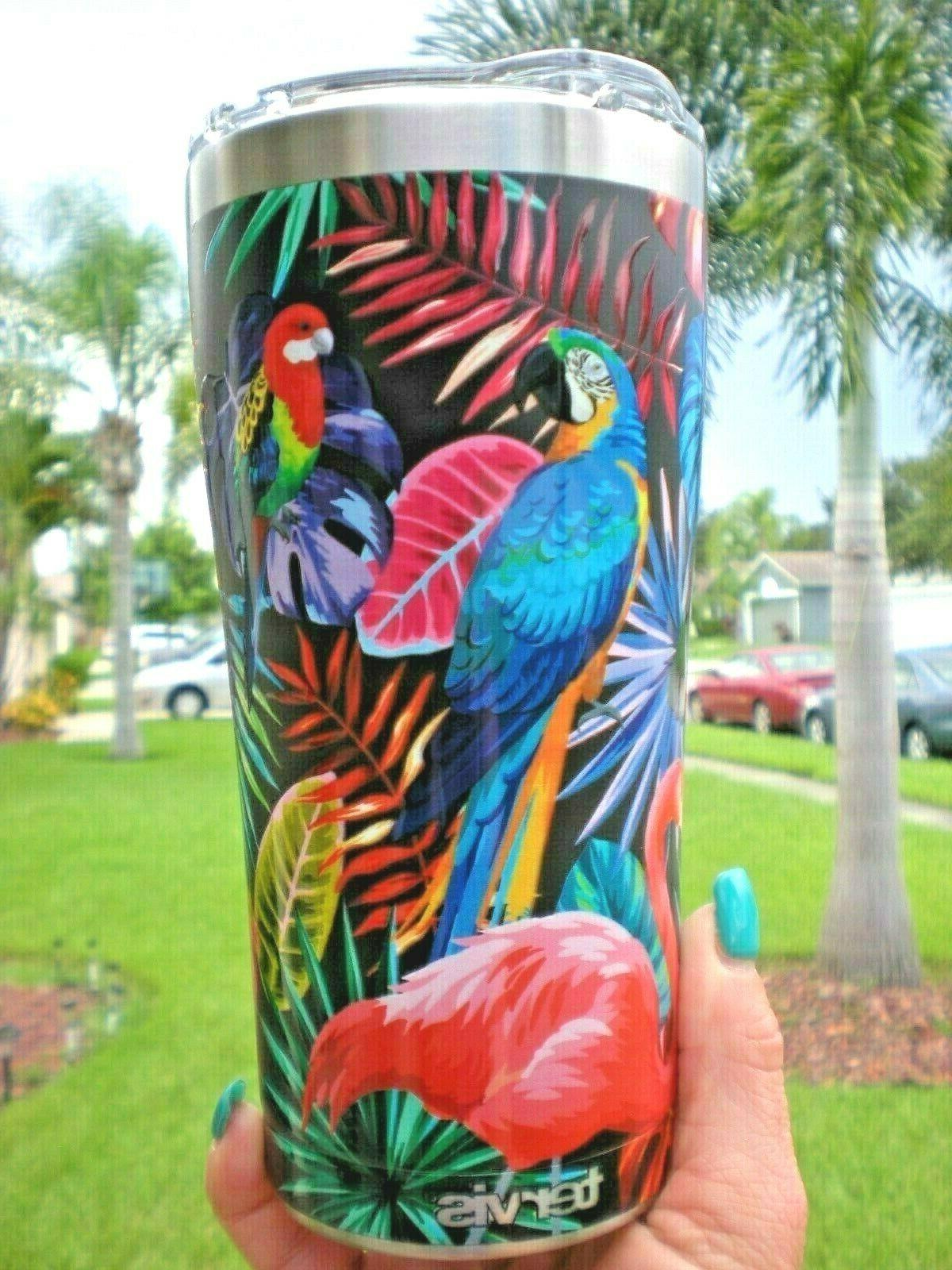 Tervis Tumbler Tropical Birds Stainless Steel 20 oz Tumbler