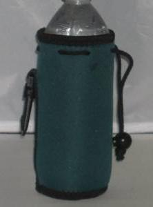 Water Bottle Cooler Insulator Neoprene with Snap, Forest Gre