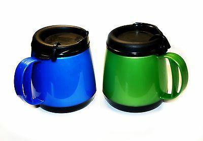 20oz. Wide Body Blue/Green Double Wall Foam Insulated Travel